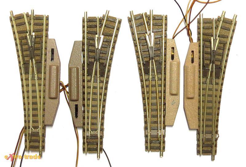 FLEISCHMANN-2x-ELEKTRISCHES-WEICHENPAAR-9141-SPUR-N-MIT-OVP-3KWDH06